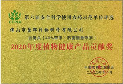 吉满头-2020年度植物健康产品贡献奖