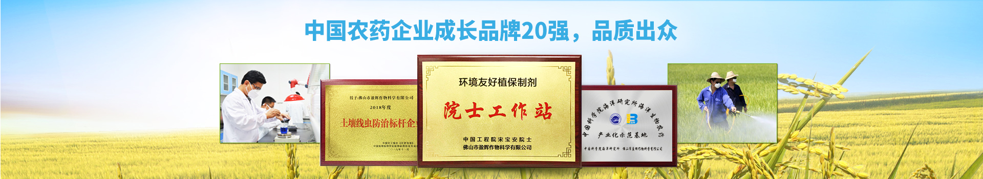 盈辉-中国农药企业成长品牌20强